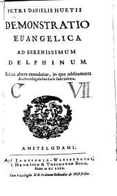 Demonstratio Evangelica ad Ser. Delphinum