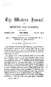 The Western Journal of Medicine and Surgery