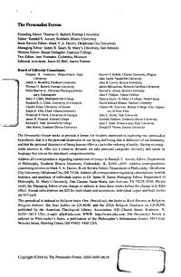 The Personalist Forum PDF