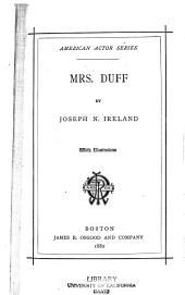 Mrs. Duff