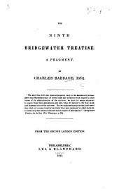 The Ninth Bridgewater Treatise. A fragment ... Second edition