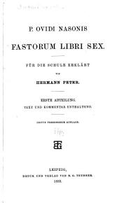 P. Ovidi Nasonis Fastorum libri sex