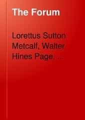 The Forum: Volume 38