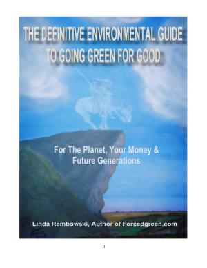 The Definitive Environmental Guide to Going Green for Good