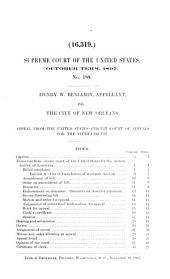 Records and Briefs of the United States Supreme Court: Volume 169