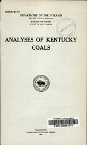 Analyses of Kentucky Coals