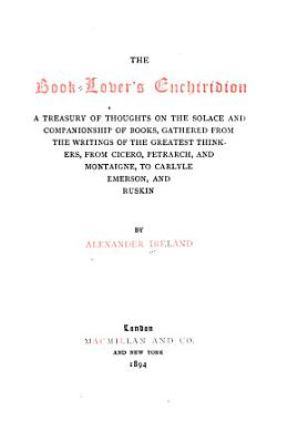 The Book lover s Enchiridion