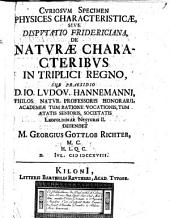 De naturae characteribus in triplici regno