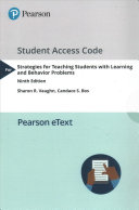 Strategies for Teaching Students With Learning and Behavior Problems  Video enhanced Pearson Etext Access Card Book
