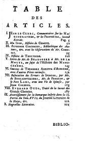 Bibliothèque raisonnée des ouvrages des savans de l'Europe: Volume7