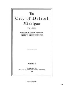 The City of Detroit Michigan 1701 1922 PDF