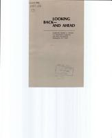 Looking Back  and Ahead PDF