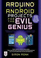 Arduino   Android Projects for the Evil Genius  Control Arduino with Your Smartphone or Tablet PDF