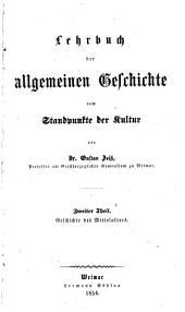 Lehrbuch der Gesch. des Alterthums vom Standpunkte der Kultur: 1er Band