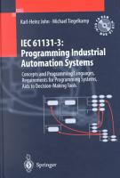 IEC 61131   3  Programming Industrial Automation Systems PDF