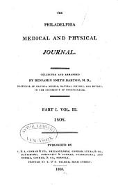 The Philadelphia Medical and Physical Journal: Volume 3, Part 1