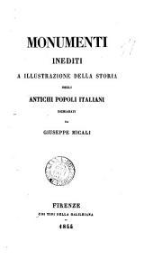Monumenti inediti a illustrazione della Storia degli antichi popoli italiani: Volume 2
