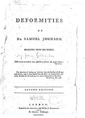 Deformities of Dr. Samuel Johnson: Selected from His Works