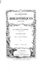 De l'organisation des Bibliothèques dans Paris: Volume8