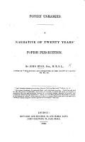 Popery Unmasked  A Narrative of Twenty Years  Popish Persecution PDF