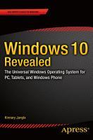 Windows 10 Revealed PDF