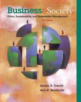 Business and Society  Ethics  Sustainability  and Stakeholder Management PDF