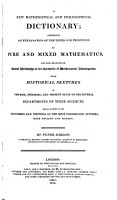 A New Mathematical and Philosophical Dictionary PDF