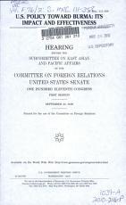 U S  Policy Toward Burma PDF