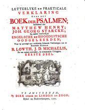 Letterlyke en prakticale verklaring over het boek der Psalmen: Volume 1