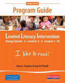 Fountas and Pinnell Leveled Literacy Intervention  LLI  Orange  Grade K  Program Guide