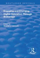 Engaging and Changing Higher Education Through Brokerage PDF
