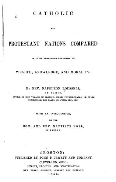 Download Catholic and Protestant Nations Compared Book
