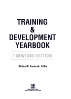 Training and Development Yearbook PDF