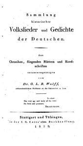 Sammlung historischer Volkslieder und Gedichte der Deutschen