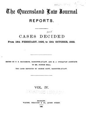 The Queensland Law Journal Reports PDF