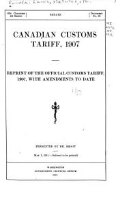 Canadian Customs Tariff