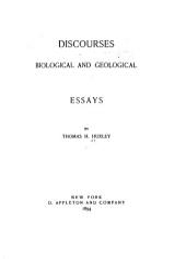 Discourses: Biological & Geological: Essays