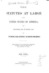 The Statutes at Large, the United States from ...