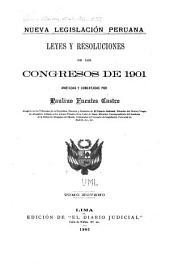 Nueva legislación peruana: Volúmenes 9-11