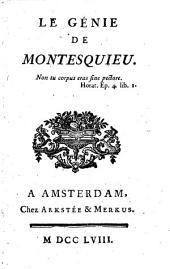 Le génie de Montesquieu