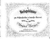 Vorlegeblätter zum Schönschreiben in Deutscher Current