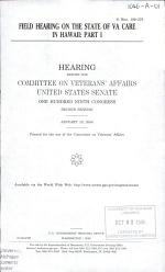 Field Hearing on The State of VA Care in Hawaii: Part I, S. Hrg. 109-376, January 10, 2006, 109-2 Hearing, *
