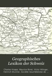 Geographisches Lexikon der Schweiz: Band 2