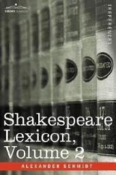 Shakespeare Lexicon: Volume 2