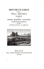 Monumenti Gabini della villa Pinciana descritti da Ennio Quirino Visconti