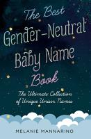 The Best Gender Neutral Baby Name Book PDF