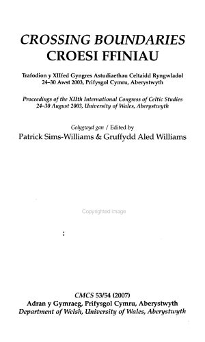 Cambrian Medieval Celtic Studies