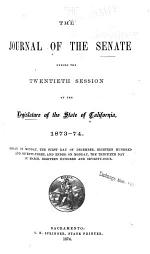 The Journal of the Senate ... of the Legislature of the State of California ...