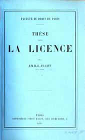 Thèse pour la license: (Jus romanum de servitutibus praediorum urbanorum...).