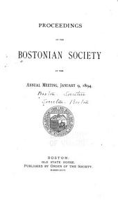 Proceedings of the Bostonian Society, Annual Meeting